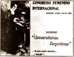 I Congreso Internacional Femenino de la Argentina